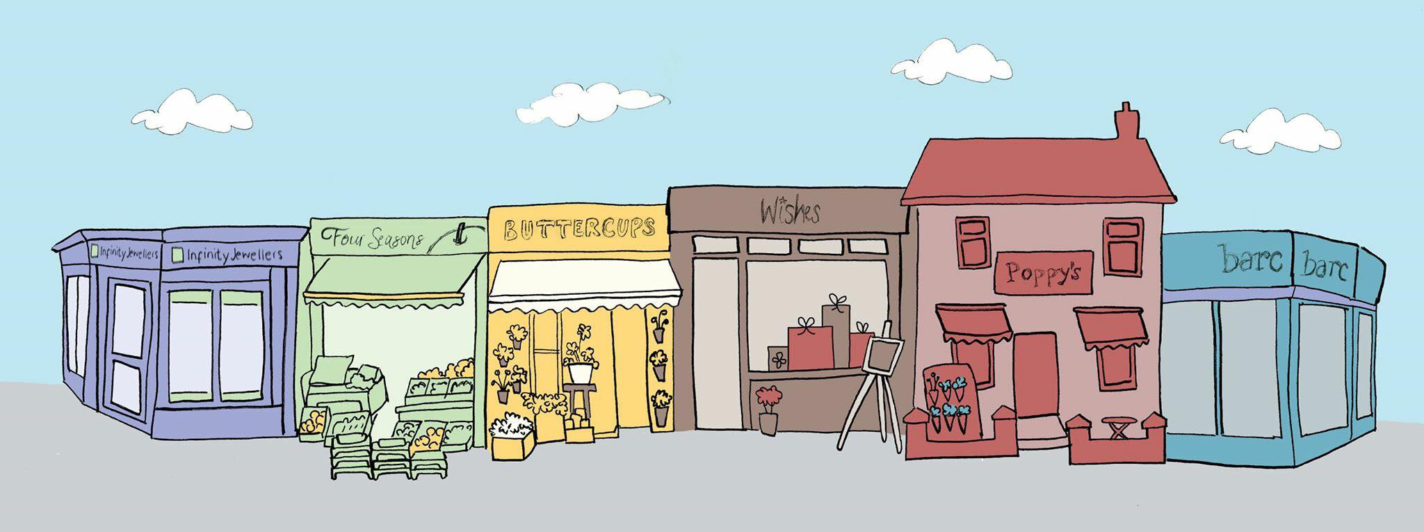Cudworth Shops Illustration