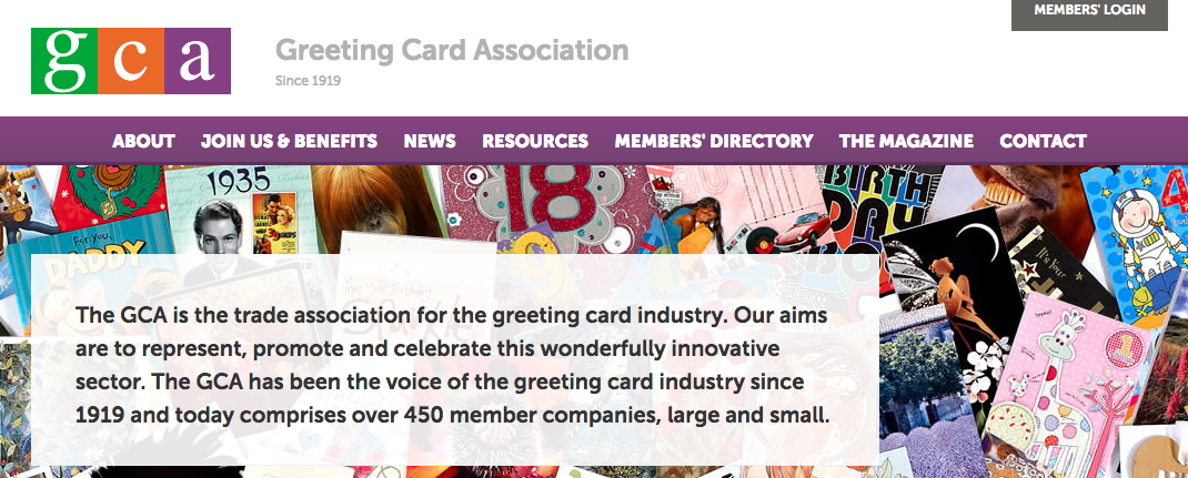 The Greeting Card Association Website