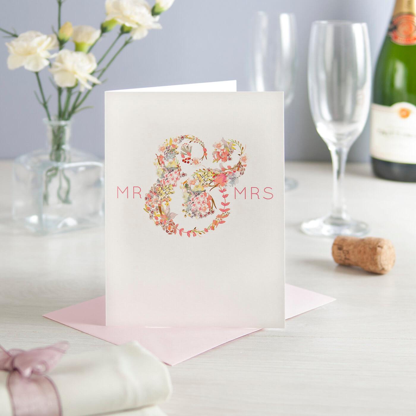 Mr & Mrs Greeting Card
